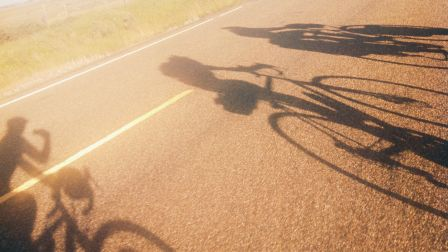 bike shadows