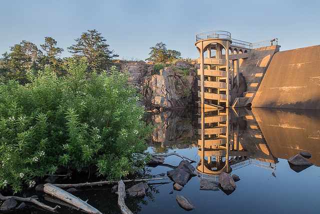 French Lake Dam Fish Ladder (photograph: Larry Smith)