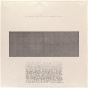 Sol Lewitt, Plan for Wall Drawing, 1969