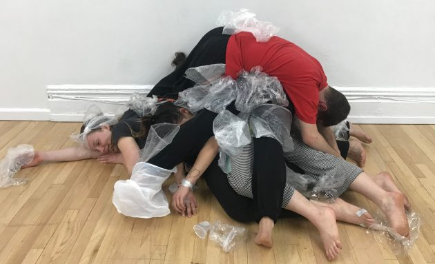Pile of plastic and dancers