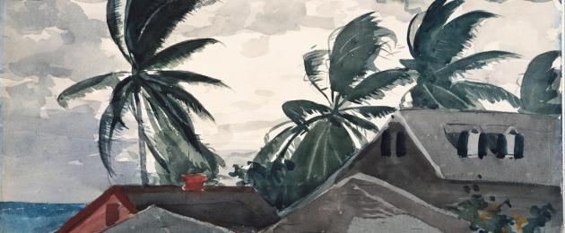 Winslow Homer Hurricane, Bahamas